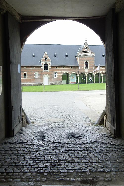 View through a Gate at Park Abbey in Heverlee