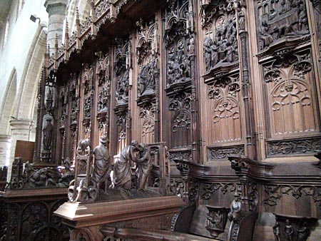 Choir Stalls at Saint Gertrude's Church, Leuven
