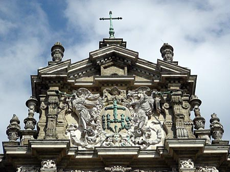 Top of frontal facade of Saint Michael's Church