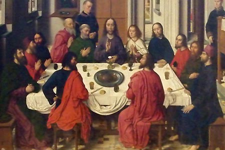 Detail of Last Supper by Dirk Bouts