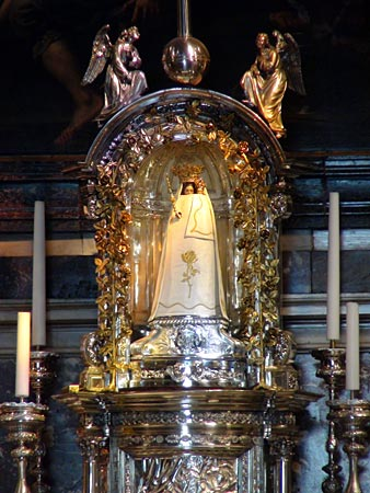 Statue of the Virgin Mary at Basilica of Our Lady of Scherpenheuvel