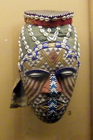 One of the many masks on display in the museum