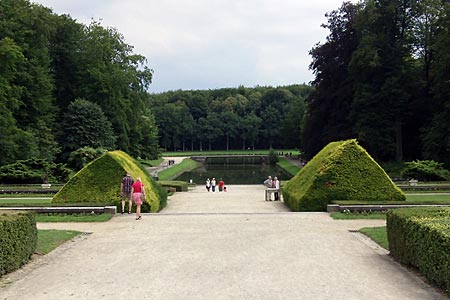 View towards the vast Park of Tervuren