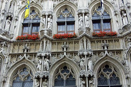 Detail of Town Hall of Leuven